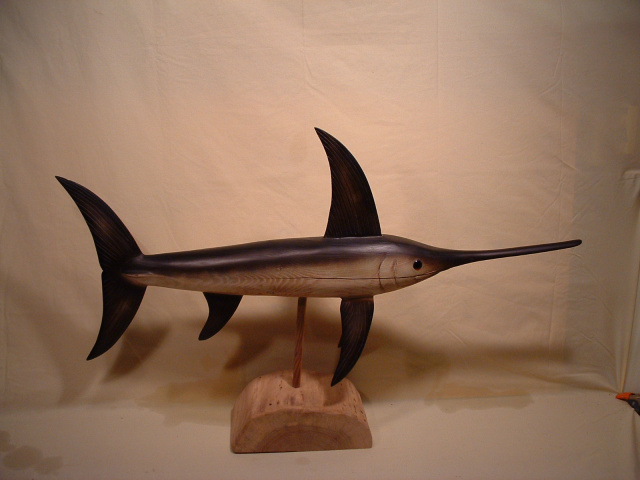 Swordfish Carving 36'